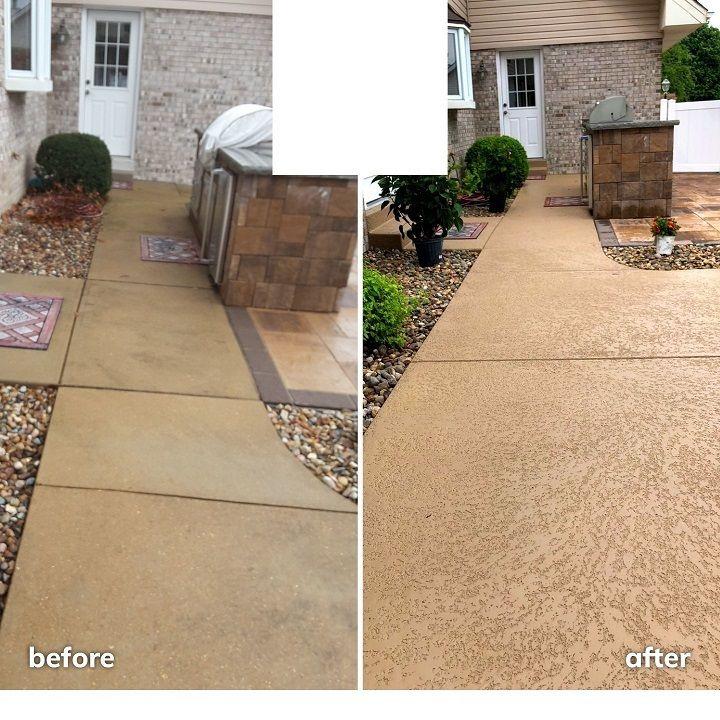 Knockdown Texture Kansas City: Spray & Troweled Concrete