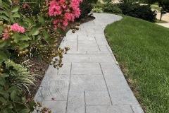 decorative concrete walkway  kansas city