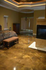 epoxy floor bedroom