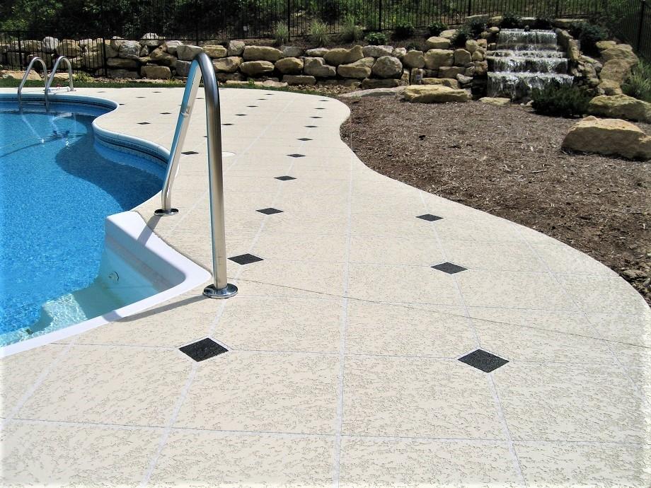 knockdown texture pool deck kansas city