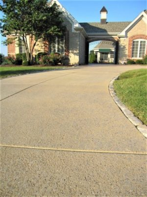 concrete driveway resurfaced kansas city