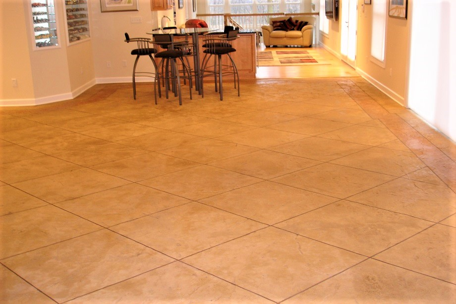 Interior concrete floors kansas city ks epoxy acid - Interior concrete floor resurfacing ...