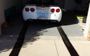 garage tire marks