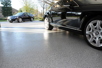 black-car-over-an-epoxy-floor